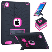 For IPad 2 3 4 Tablet Rubber Case 3 Layer Shock Absorption Armor Defender Cover With
