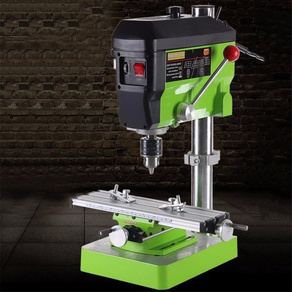 Мини 2 оси Multi Функция al Рабочий стол мини точность Multi Функция фрезерный станок скамья дрель тиски