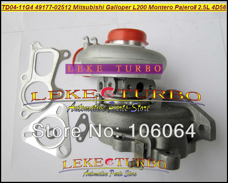 Free Ship TD04 49177-02512 28200-42540 Water Cooled Turbo For Mitsubishi L200 Pajero II For Hyundai Galloper 4D56Q EC 4D56 2.5L for mitsubishi l200 kb