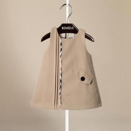 Kleinkind Mädchen Winter Kleid Ärmel roupas infantis menina Weste Kinder Kleider für Winter kleid kinder