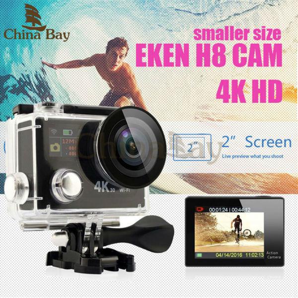 Original Eken H8R H8 Ultra HD Action Camera com 4 K 30FPS resolução e 30 m waterporoof 2.0 'Tela cam ir Câmera esporte pro yi