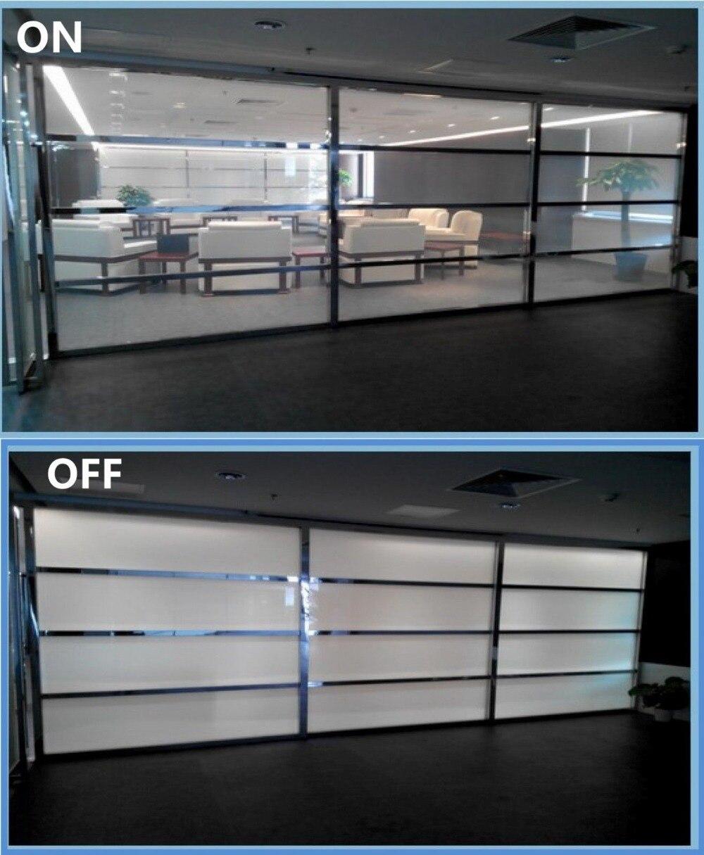 Film PDLC SUNICE personnalisé 10 pièces 520mm x 110mm blanc à Opaque Film de verre de fenêtre matériau intelligent auto-adhésif sans alimentation