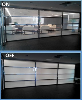 PDLC Film SUNICE Customized 10pcs 520mm x 110mm White to Opaque Window Glass Film Self-adhesive Smart Material without Power