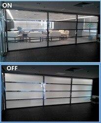 PDLC película SUNICE personalizada 10 Uds 520mm x 110mm blanco a opaco ventana película de vidrio autoadhesiva Material inteligente sin energía