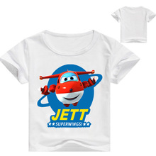 2-16Years 2019 Super Wings Clothes Tee Shirt Enfant Boy T Shirts for Children Clothing Teenagers Girls Nova Top