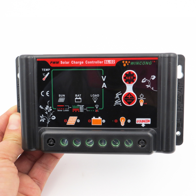 Wincong Solar Charger Controller 30A/20A/10A/3A LI-ION NI-MH LiFePO4 Battery Solar Panel Battery Regulators 6/12/24/36/48/60V