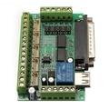 Alta Qualidade Atualizado 5 Eixos CNC Breakout Board para Stepper Motor Driver Mach3 + Cabo USB