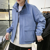 2019 new spring men's jacket Korean version Slim fashion youth jacket coat wild casual tooling jacket men's clothing outerwear