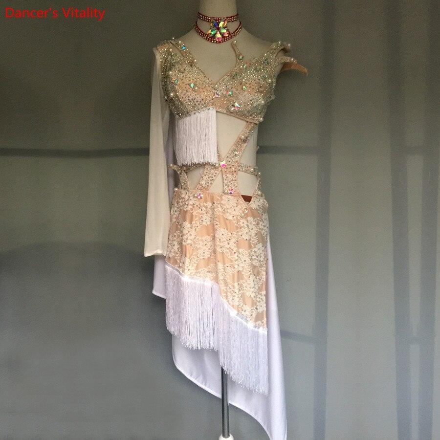 Custom Made Latin Dance Dress Women Ballroom Dance Dress Competition Latin Dress Ballroom Dancewear Costumes Sexy Latin Dress