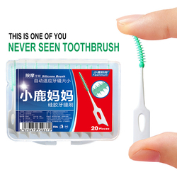 NEW 20pcs Disposable Soft Silicone Interdental Floss Brushes Teeth Tooth Cleaner Oral Care Tool