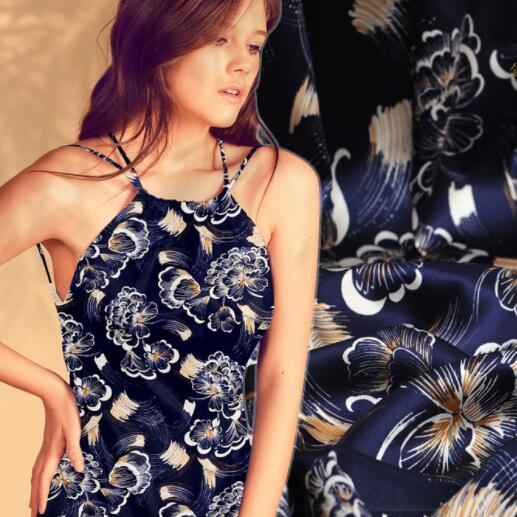 135 cm bleu Élastique usine Lourd élastique soie tissu robe sexy tweed patch Parti impression satin tissu africain en mousseline de soie tissu A491