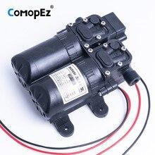5.5л/мин DC12V 4.5A мембранный Водяной насос маленький безопасный насос высокого давления самовсасывающий насос 105PSI