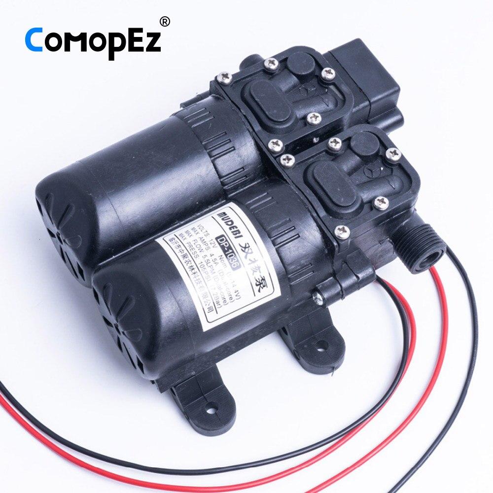 Pumpen, Teile Und Zubehör Pumpen 5.5l/min Dc12v 4.5a Membran Wasserpumpe Kleinen Safe Hochdruck Selbst Pumpe 105psi Bequemes GefüHl