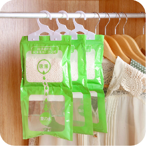 High Quality Creative Bedroom Can Be Hanging Wardrobe Closet Hanging Desiccant Moisture  Absorbent Desiccant Bags Mildew Single Bag