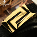 Manbang Brand Men Genuine Leather Belt Cowskin Belts Black/Brown Strap+Crocodile Pattern MBP0280