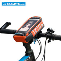 ROSWHEEL Bicycle Smart Phone Bag 5 7 Inch Max Handlebar Stem Pouch MTB Road Bike Cycling