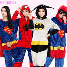 Superman onesies pajamas Captain America animal costume onesies Pajamas Spiderman Ironman Pyjamas Unisex Batman pijamas Baymax