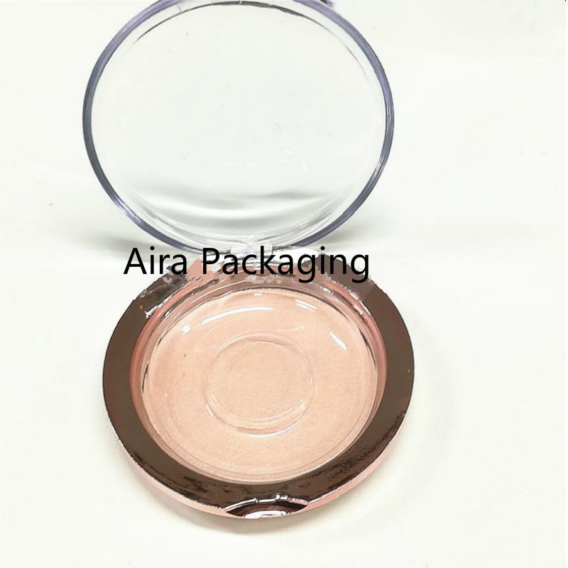 30Pcs 50Pcs Empty Round Elegant Rose Gold Fake Eyelashes Storage Case High Quality DIY Gold Empty