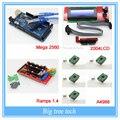 Impressora 3D kit-1pcs Mega 2560 R3 + 1 pcs rampas 1.4 controlador + 5 pcs A4988 Stepper módulo de Driver + 1 pcs 2004 controlador