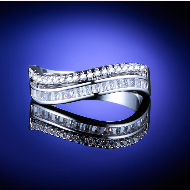 Huitan New Female Wedding Engagement Ring Dropshipping Women Promise For Bride&Girlfriend Wholesale