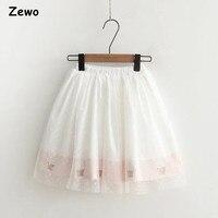 Zewo תחרת אופנה מתוקה מכנסיים חצאיות מכנסיים קצרים חצאית תחתונה פנג פנג Anti-shine מכירה חמה 2017 חדש באביב ובסתיו מודלים