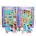 Casa de bonecas em miniatura de plástico brinquedos móveis conjunto 41 peças rolo jogar jogos Toy sala sala de jantar quarto mobília do banheiro seguro