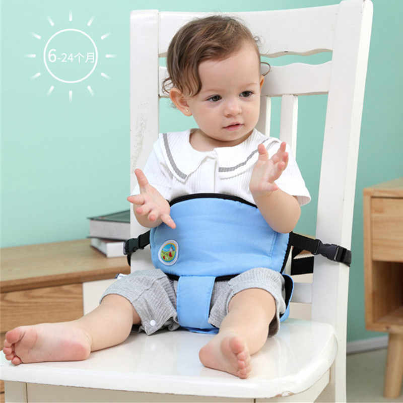 Baby Portable Seat Kids Feeding Chair Travel Foldable Infant Seats Safety Belt Booster Feeding High Chair harness for Child