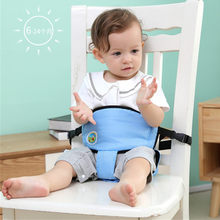 Baby Portable Seat Kids Feeding Chair Travel Foldable Infant Seats Safety Belt Booster Feeding High Chair harness for Child(China)