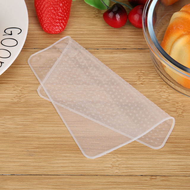 4Pcs Silicone Bowl Covers Food Fresh Keeping Wrap Reusable Silicone Wrap Seal Lid Cover Stretch Vacuum Food Wrap Kitchen Acc 2