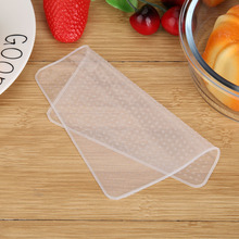 4 Pcs Silicone Bowl Covers Food Fresh Keeping Wrap Reusable Silicone Wrap Seal Lid Cover Stretch Vacuum Food Wrap