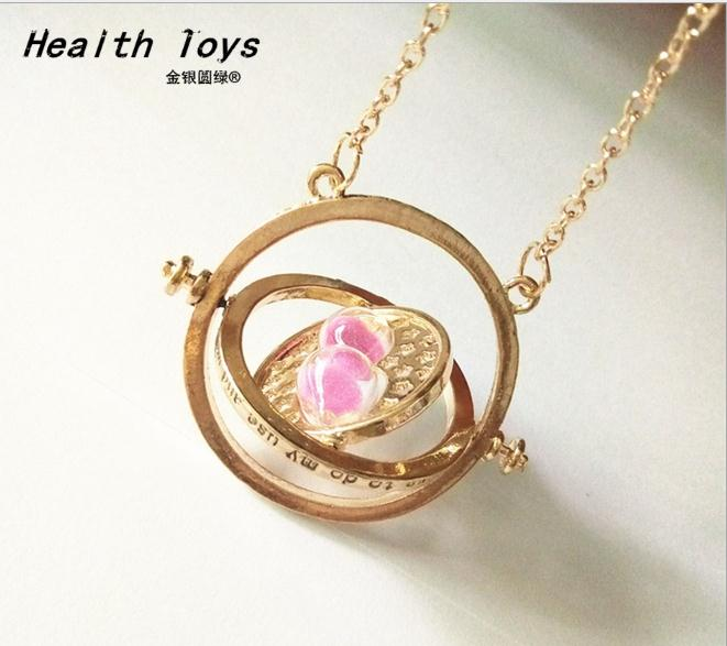 2017 Hot Selling necklace time turner hourglass Necklace Hermione Granger Rotating Spins action figure Action Toy Figures 1 6 scale sa0004 harry potter and the sorcerer s stone hermione granger collectible action figures dolls gifts