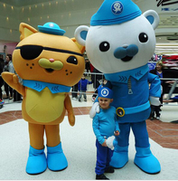 Mascot Adult Costume Octonauts Movie Captain Barnacles & kwazii Polar Bear Police Mascot Costumes Fancy Carnival For School