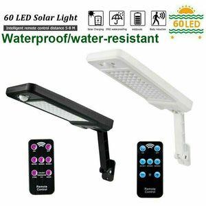 Image 4 - 60LED 1000LM Solar Dimmable Wall Light PIR Motion Sensor Garden Outdoor Lamp