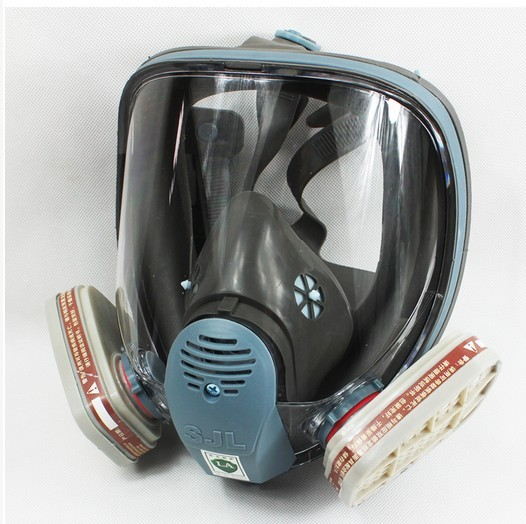 SJL 6800 Gas Mask Full Face Facepiece Respirator 7 Piece Suit Painting Spraying sjl painting spraying respirator gas mask same for 3 m 6800 gas mask full face facepiece laboratories dust mask respirator