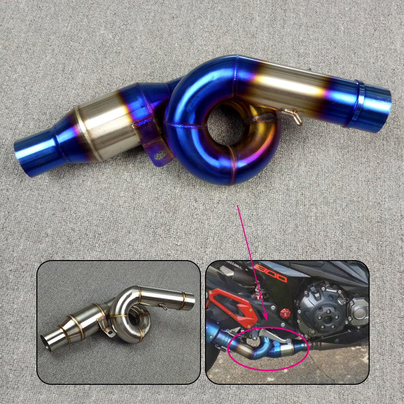 Free Shipping For KAWASAKI Z800 2013 2014 2015 2016 Slip On Motorcycle Exhaust Middle Mid Pipe Connection Link Stainless Steel все цены