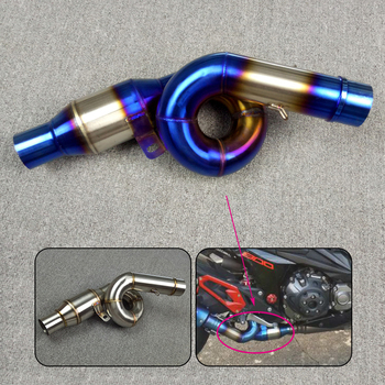 Free Shipping For KAWASAKI Z800 2013 2014 2015 2016 Slip On Motorcycle Exhaust Middle Mid Pipe Connection Link Stainless Steel