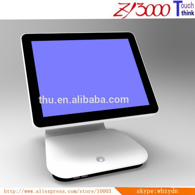 2019 Hot Sale New Stock  I5 Cpu 8 G Ram 128 G SSD 15.6 Inch Double Sided Monitor All In One Pos Terminal