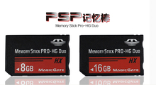 Envío gratis real capacidad MS hg 8 gb tarjetas de memoria memory stick pro duo para sony psp teléfono tableta de la cámara