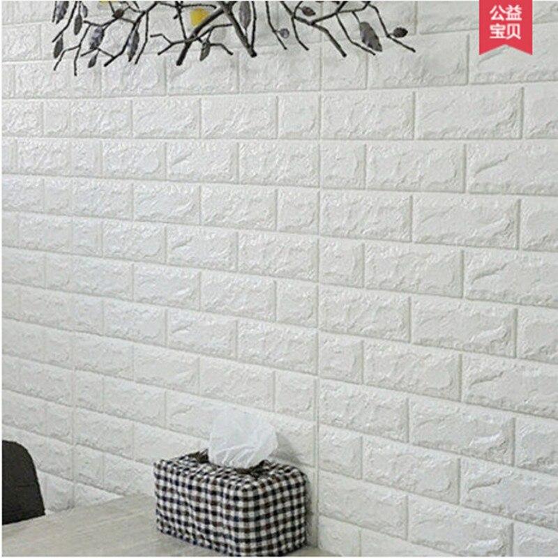 Pegatinas de pared tridimensionales 3d sofá tv fondo pared ladrillo - Decoración del hogar