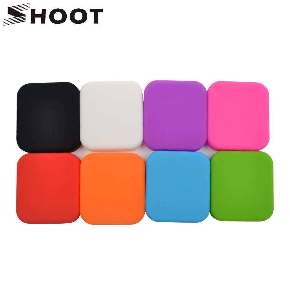 SHOOT Colorful Soft Silicone Protector Cover Lens Cap for GoPro Hero 7 6 5 Black Camera For Go pro 7 6 5 Action Camera Accessory shoot underwater photographic lighting tray stabilizer for gopro hero 6 5 7 black sjcam xiaomi yi 4k eken go pro hero accessory