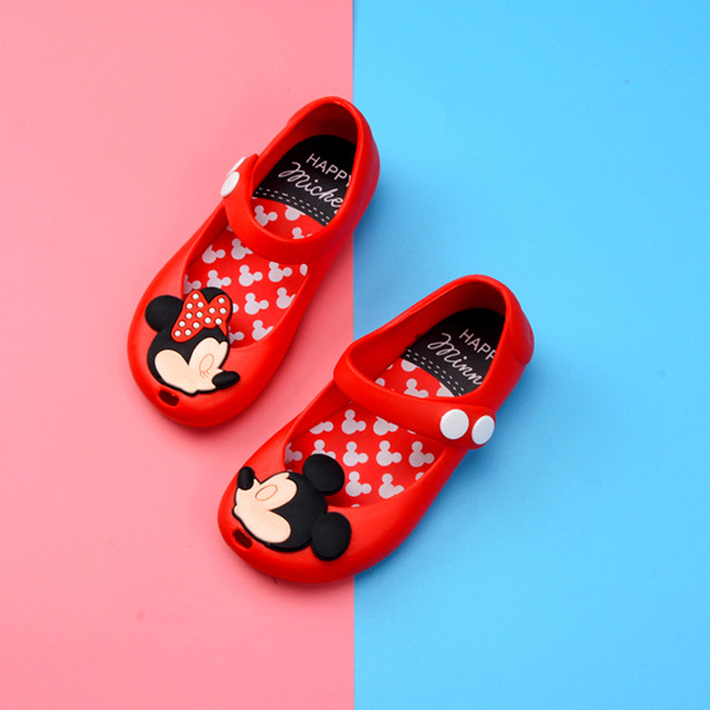 2018 Summer Fashion Girl Mickey Shoes PVC Beach Sandals Breathable Shoes For Girls Children Shoes