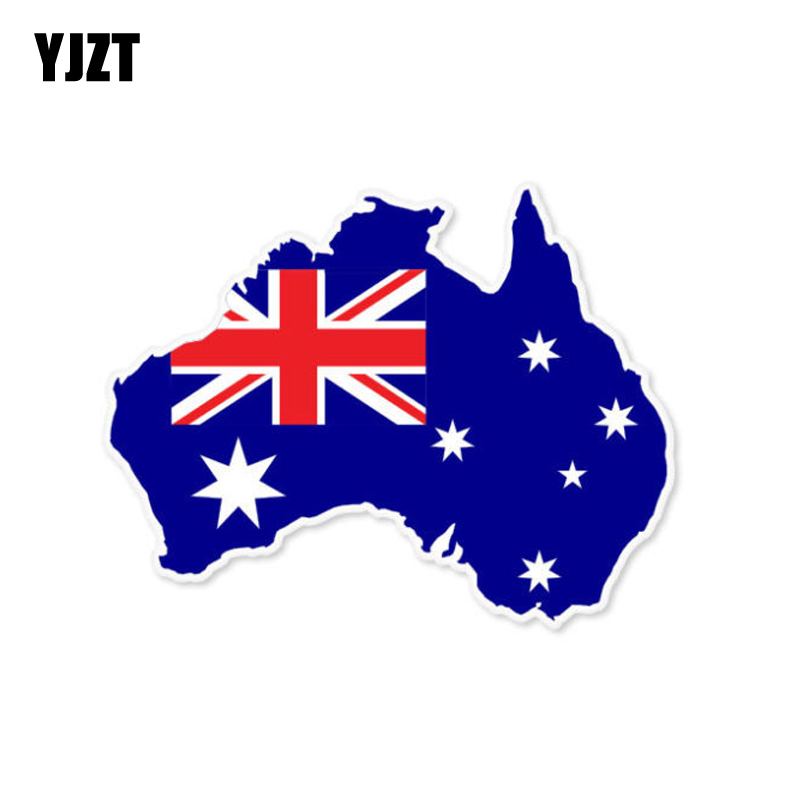 YJZT 11.5CM*9CM AUSTRALIA Map Car Sticker Flag Car Accessories Creative Decal 6-0808