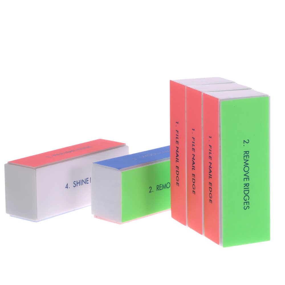 5 шт./компл. 4 стороны ногтей буфера файл блок Полировка Инструмент шлифовка ногтей блочный материал пилка маникюрные пилочки для ногтей Инструменты