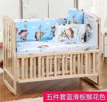 цена Bed Bumper Cotton crib sides Baby Bedding for Newborns Toddle Children's Bed Around Linen Cot Crib Bumpers Toddler bedding set онлайн в 2017 году
