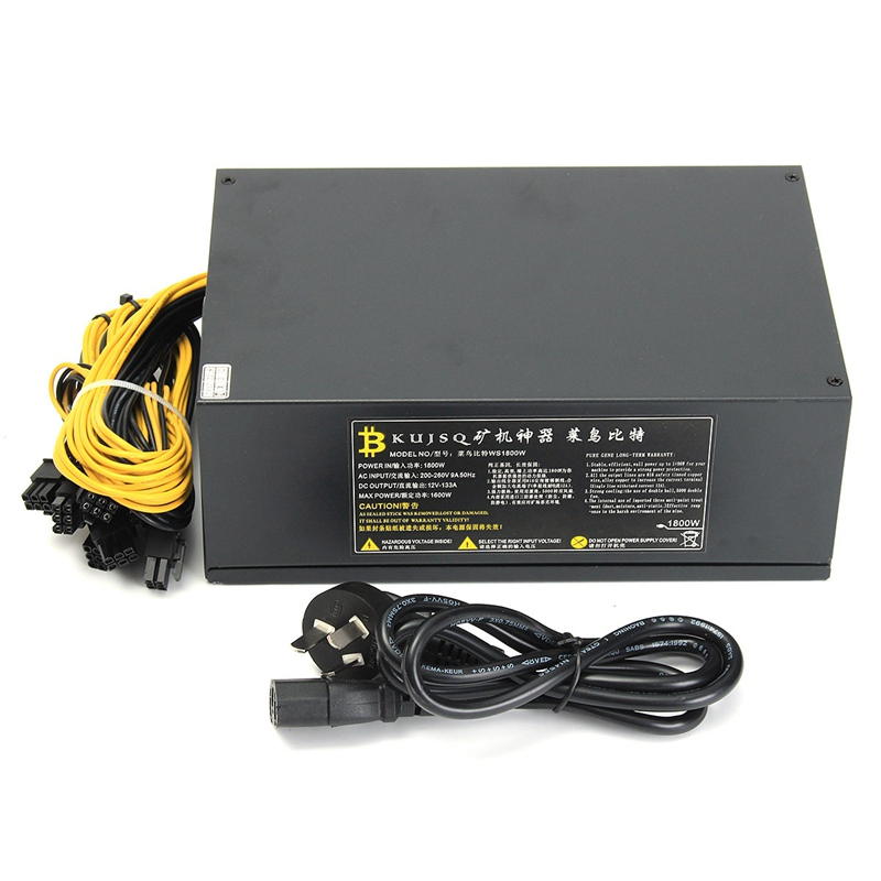1800W Max Mine Switch Power Supply For Antminer A6 A7 S9 R4 S7 E9 Machine Miner