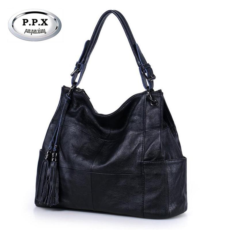 Luxury Genuine Leather Large Womens Handbags Fashion Tassels Totes Designers Ladies Shoulder Bag Famous Messenger Bag M739