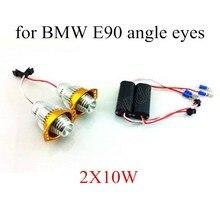 best selling 2Pcs 10WX2 LED Angel Eyes light White H8 Car Bulbs For BMW E90 E91 marker lamp high quality