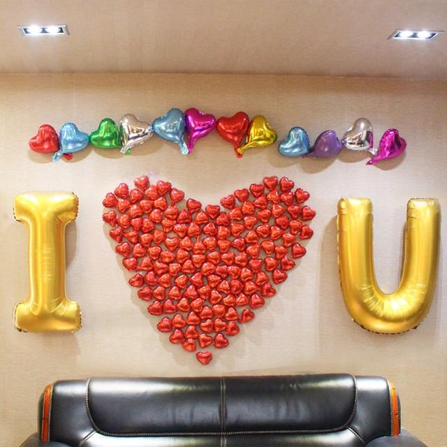 Liebe Anzug Kombination Buchstaben Folienballons Trauung Ehe