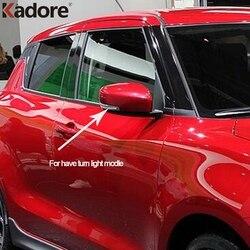 Dla Suzuki Swift 2017 2018 2019 ABS Chrome pokrywa lusterka wstecznego samochodu Cap lusterka wsteczne i boczne naklejki wykończenia akcesoria