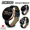 Frecuencia cardíaca dm360 smart watch doble ui instantánea bluetooth smartwatch del reloj de sincronización para ios andriod teléfono ip53 impermeable dm365